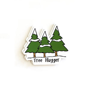 Tree Hugger Stickers, Vinyl Stickers, Nature Sticker