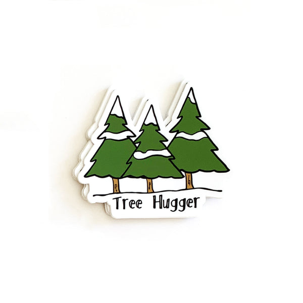 Tree Hugger Stickers, Vinyl Stickers