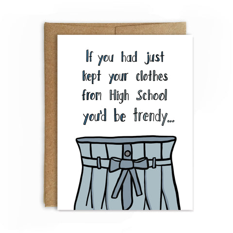 Trendy Again, Happy Birthday Card - NEW