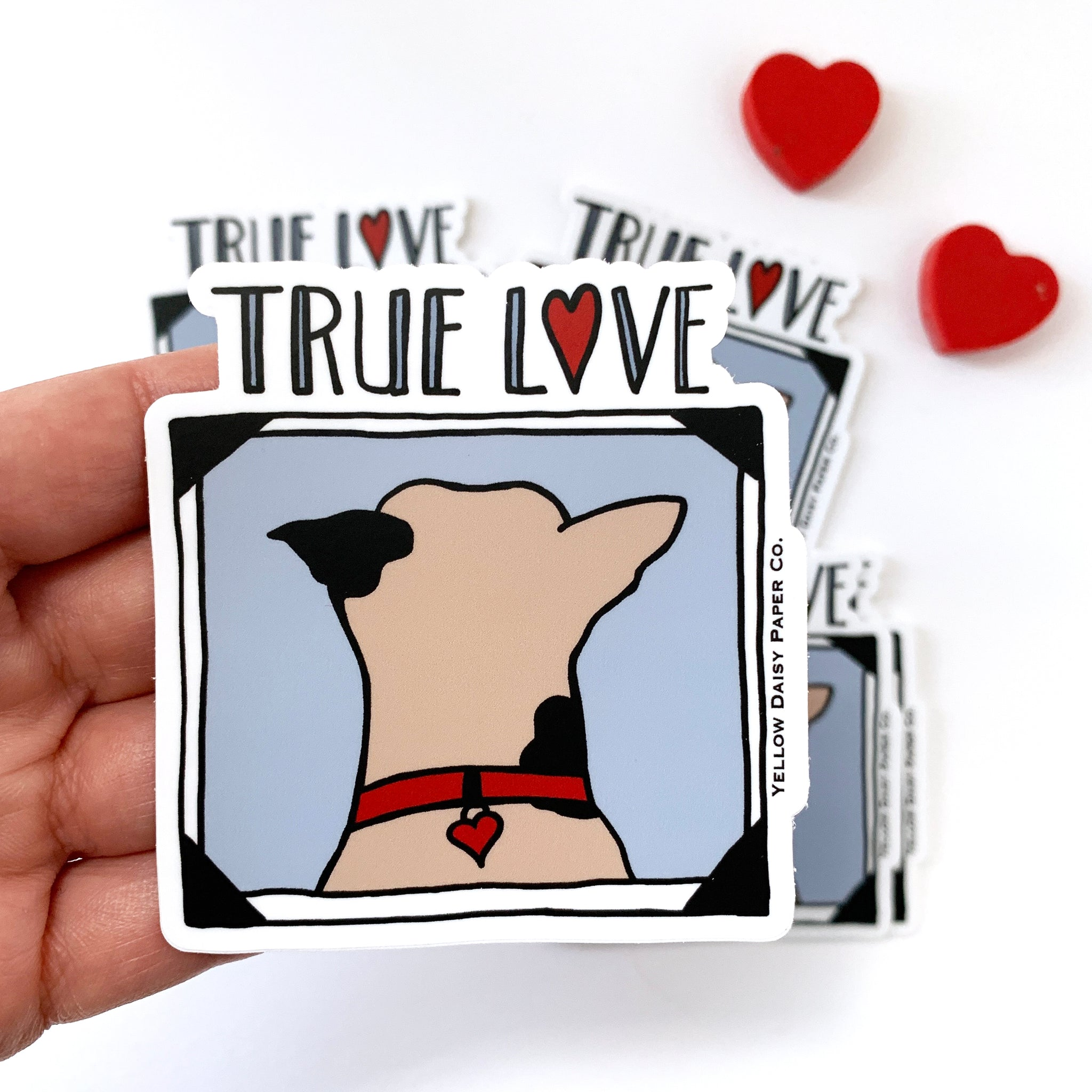 True Love Dog Vinyl Sticker. Dog Gift, Water Bottle, Laptop, Phone Sticker, Pet Sitter Gift - NEW
