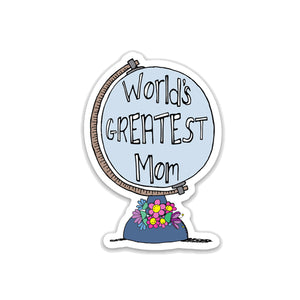 World's Greatest Mom, Mother's Day Vinyl Sticker