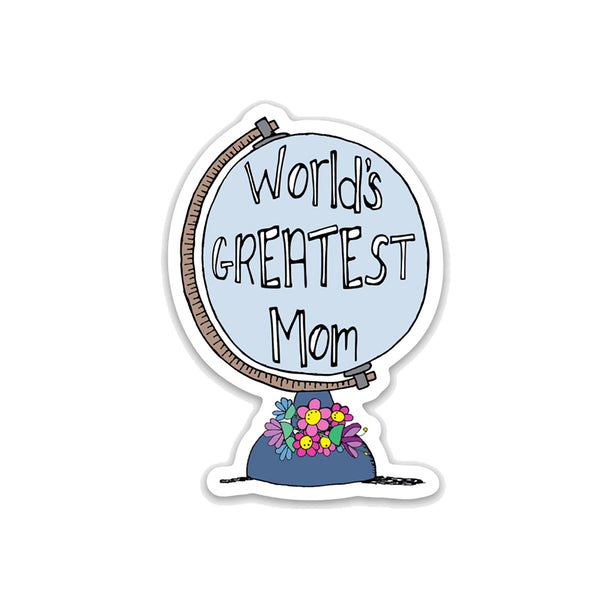 World's Greatest Mom, Mother's Day Vinyl Sticker - NEW