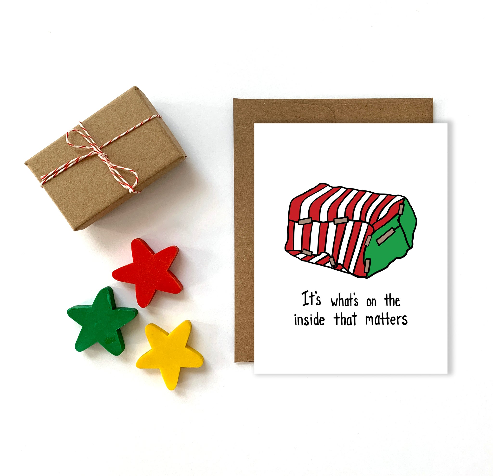Wrapping Skills, Funny Christmas Card, Single Card or Set of 8