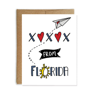 Greetings From Florida Card, XOXO from Florida