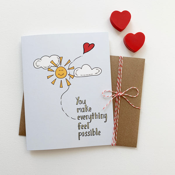 All Things Are Possible, Valentine Card, Love Card - NEW