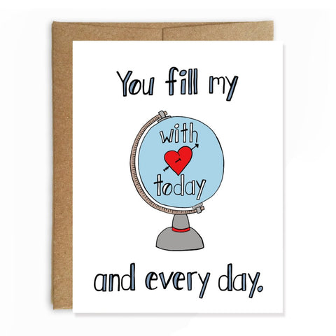 Fill My World with Love, Anniversary Card