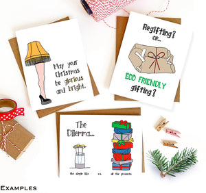 Holiday Card Variety Pack - Set of 8 Imperfect Cards - Seconds Sale