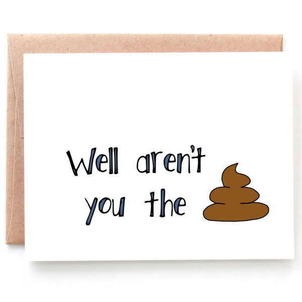 The Shit, Funny Congratulations Card