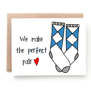 Perfect Pair, Anniversary or Valentine's Day Card