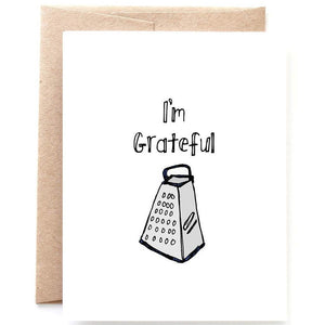 I'm Grateful Thank You Card, Single Card or Set of 8