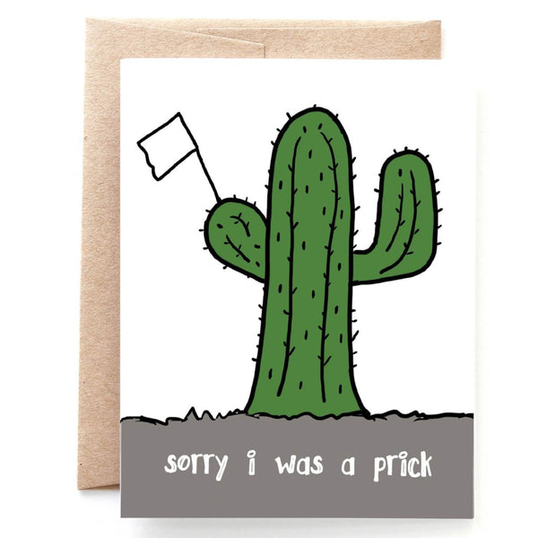 Sorry I Was A Prick Apology Card