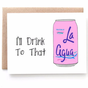 I'll Drink To That, Baby Shower Card