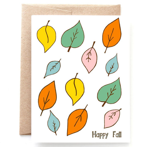 Happy Fall Card, Autumn Card