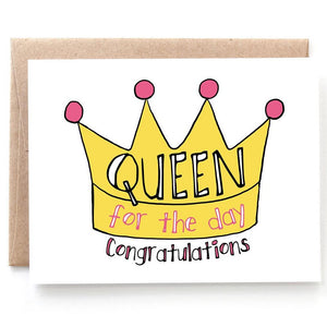 Queen for the Day, Bridal Shower Card