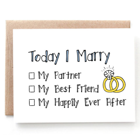 My Happily Ever After - Rings Wedding Card