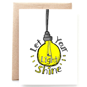 Let Your Light Shine Graduation Card
