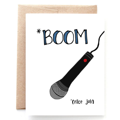 Drop the Mic Retirement or Graduation Congratulations Card