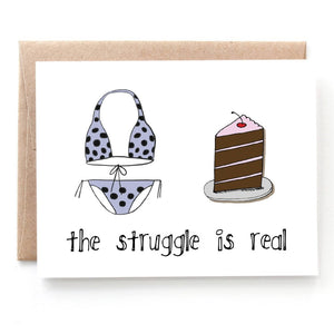 Cake Struggles Birthday Card