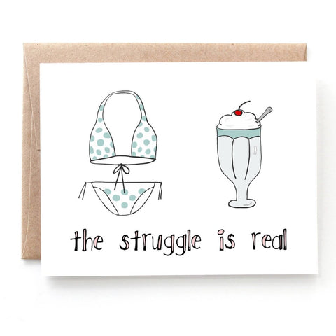 Ice Cream Struggles Birthday Card