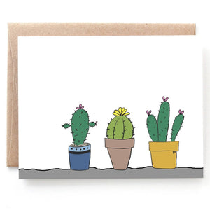 Cactus Row Note Card, Just Because Notecard