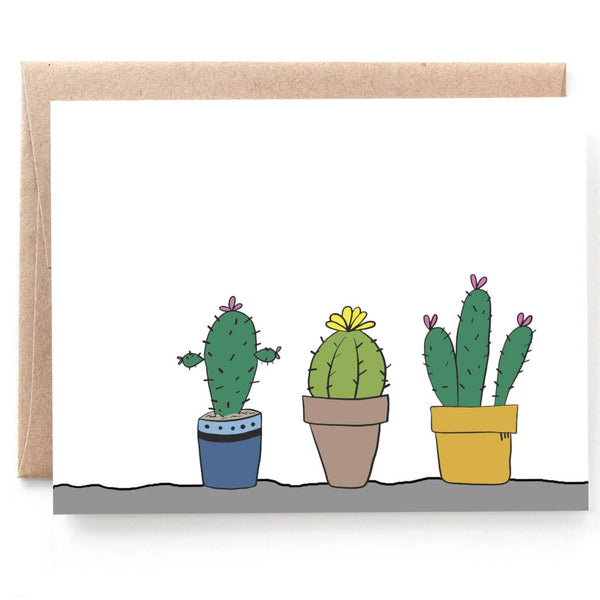 Cactus Notecards, Boxed set of 8 Cards