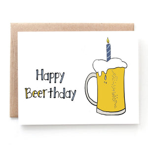 Happy Beerthday Birthday Card