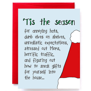 Tis' the Season For... Sarcastic Christmas Card