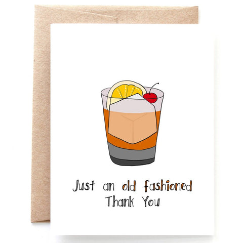 Old Fashioned Thank You Card - Single Card or Box of 8