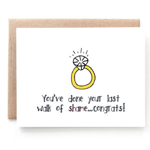 Walk of Shame, Funny Engagement Card