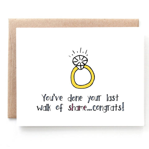 Walk of Shame Engagement Card