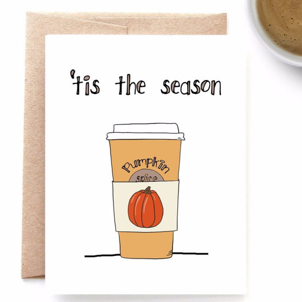 Pumpkin Spice Season, Autumn, Fall Card