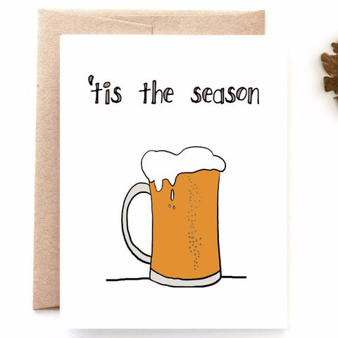 Pumpkin Beer Autumn Card