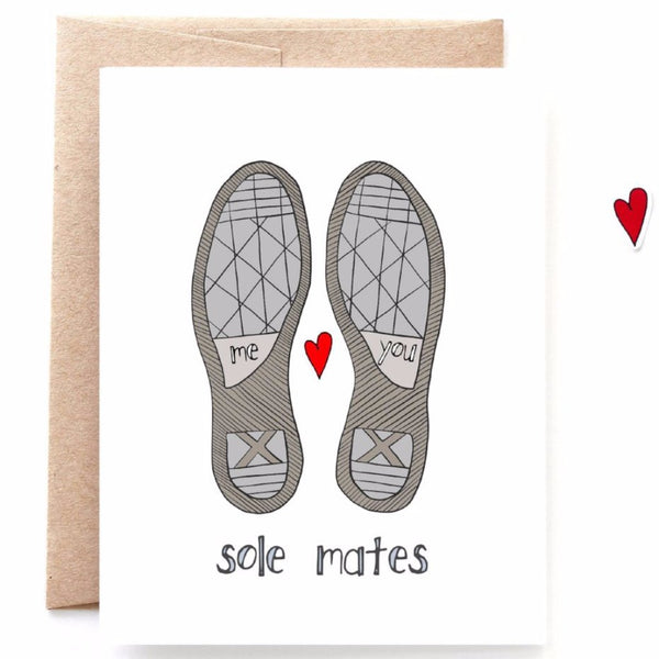 Sole Mates Valentines Day Card
