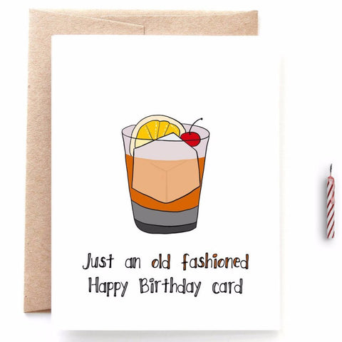 Old Fashioned Happy Birthday Card