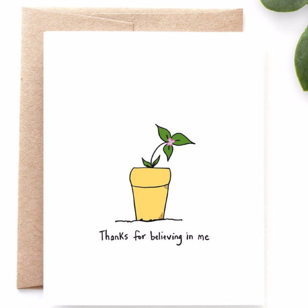 Believing in Me Thank You Card