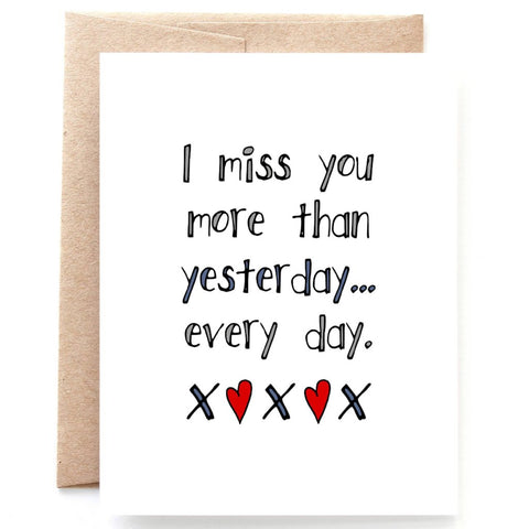More Than Yesterday, Miss You Card