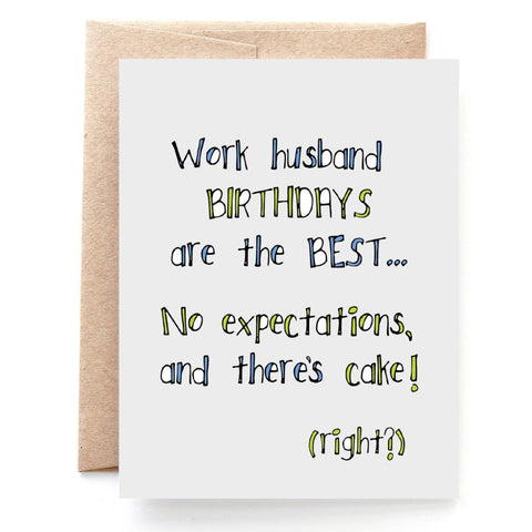 Work Husband Birthday Card