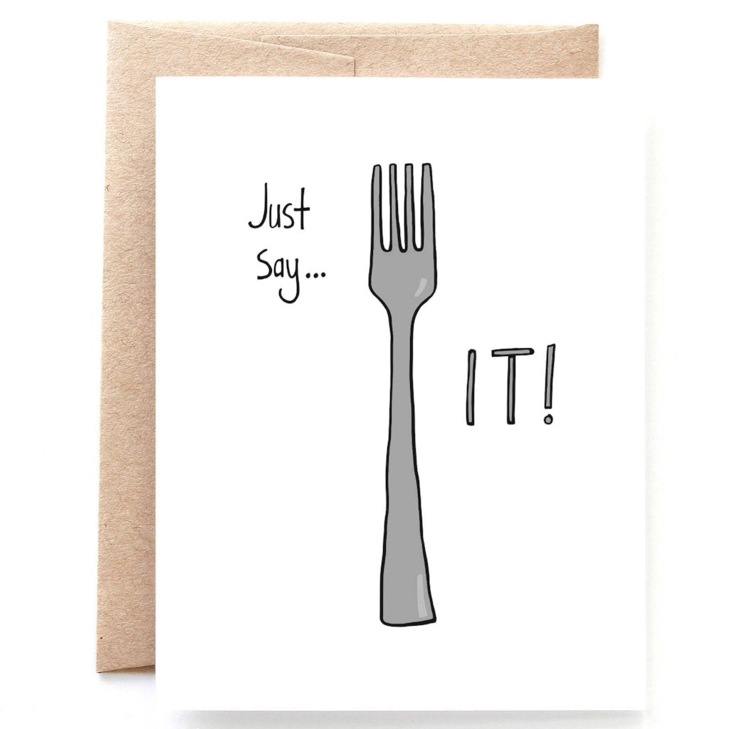 Fork It Sympathy Card