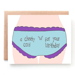 Cheeky Birthday Card for Him