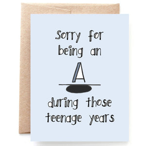 Teenage Years, Happy Father's Day Card, Mother's Day Card