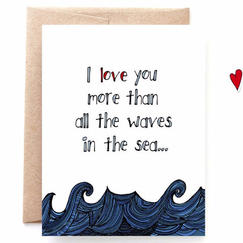 Waves In The Sea Anniversary Card
