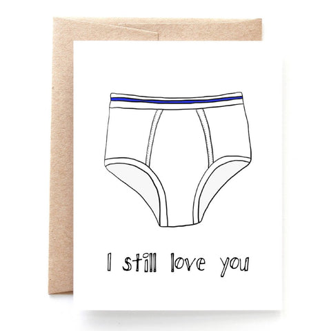 Tighty Whities Valentine's Day Card