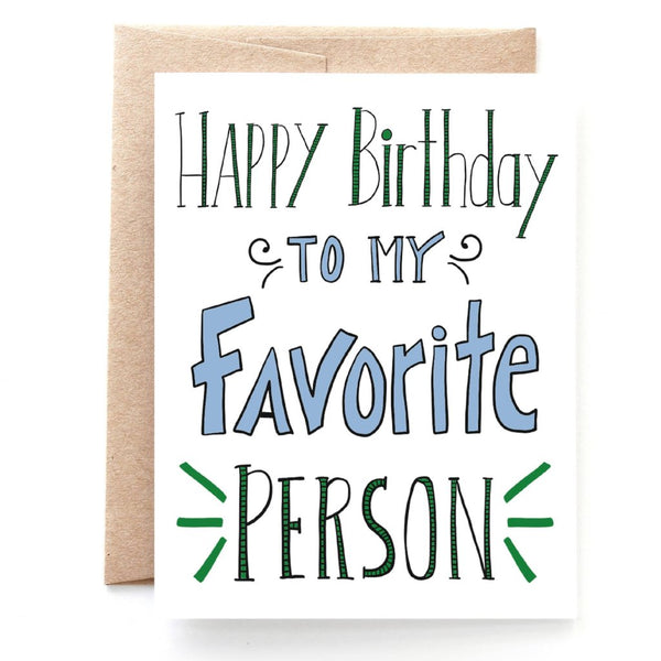 Favorite Person Birthday Card