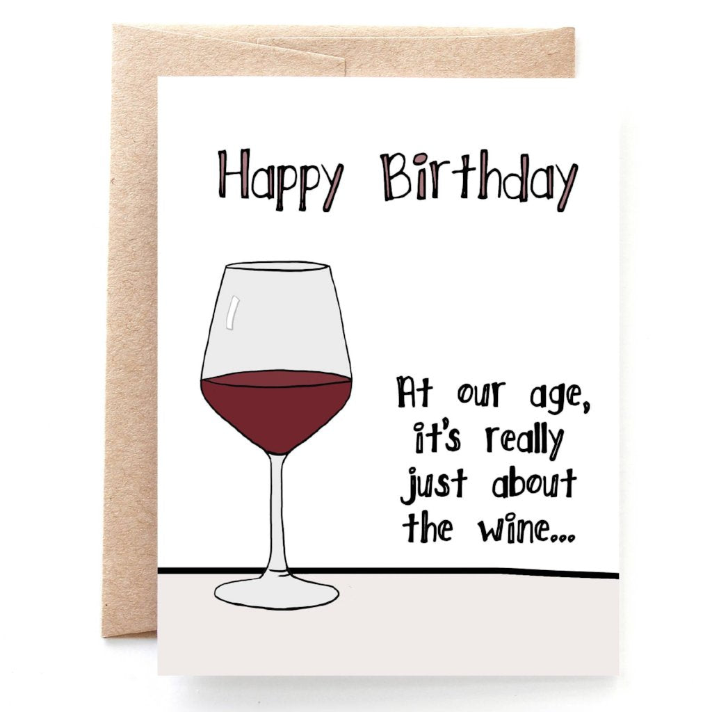 Birthday Wine Card Yellow Daisy Paper Company