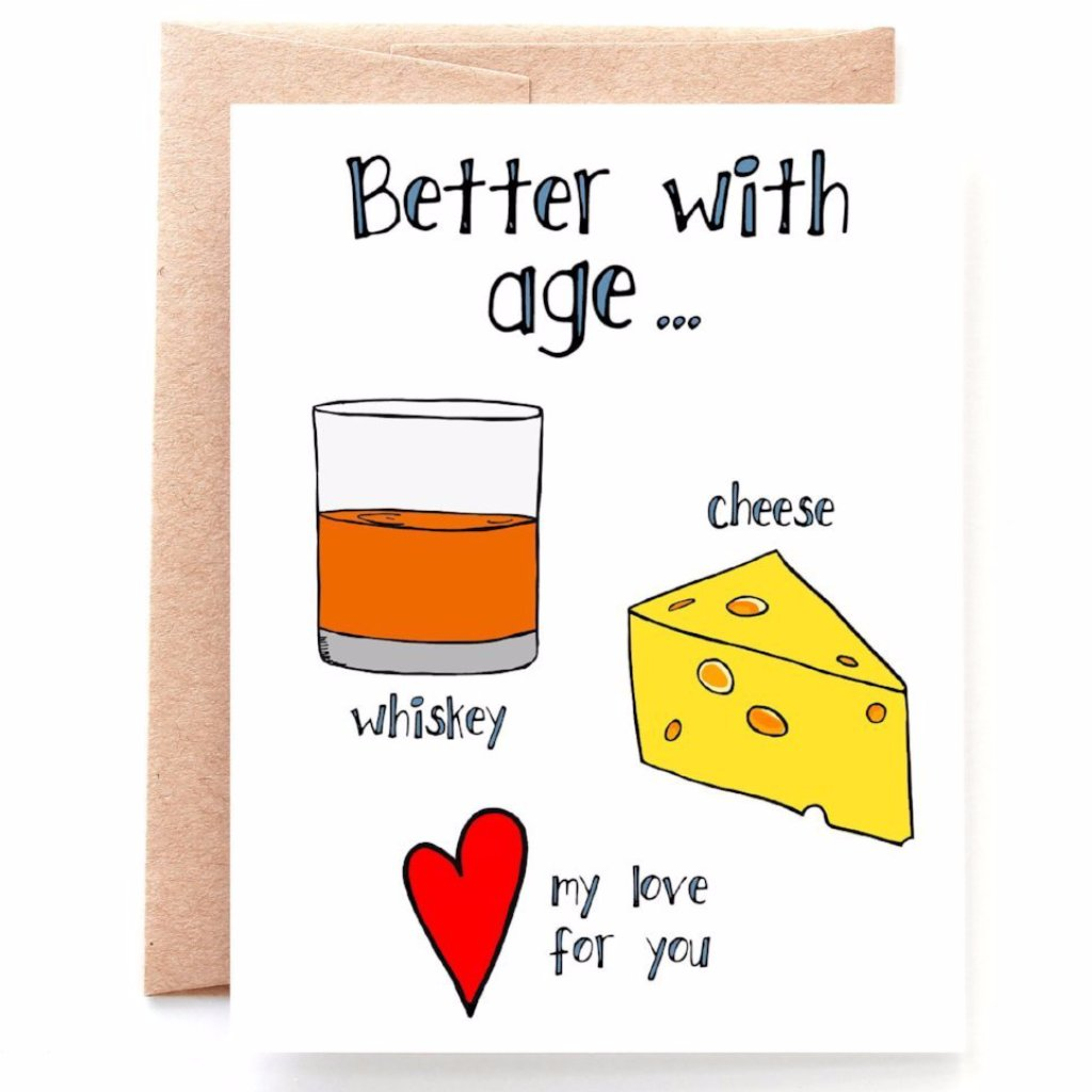 Better With Age Anniversary Card