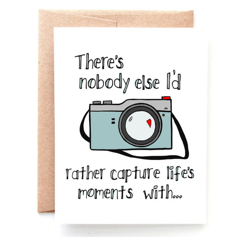Capture Life's Moments Anniversary Card