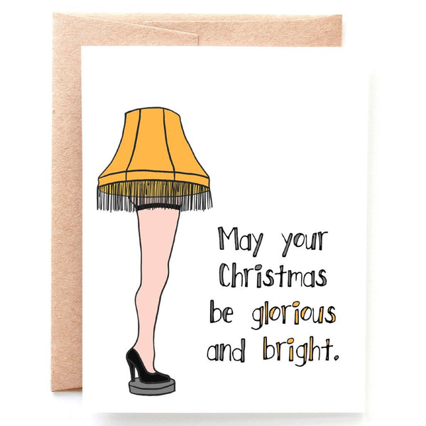 Glorious and Bright Christmas Card - Single Card or Set of 8