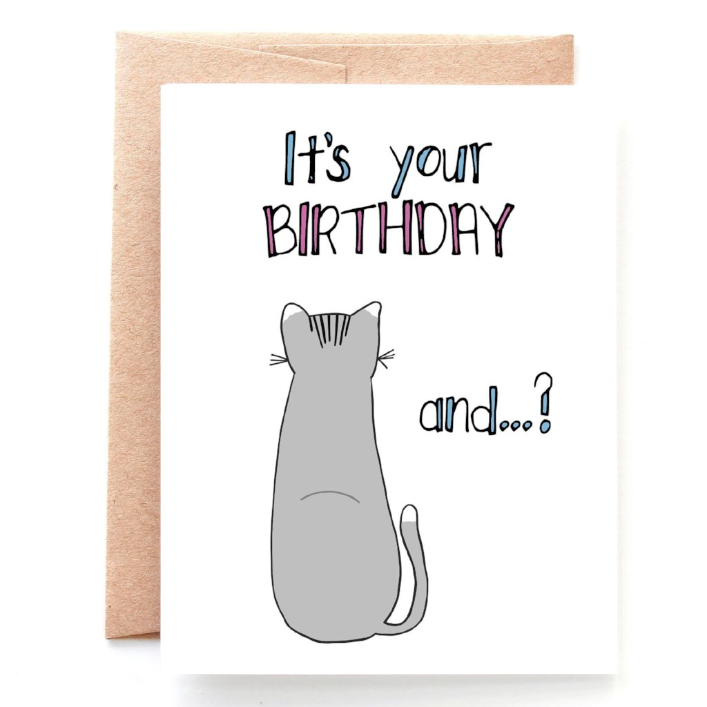 Supposed to Care Birthday Card