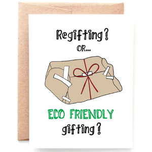 Regifting Christmas Card - Single Card or Set of 8