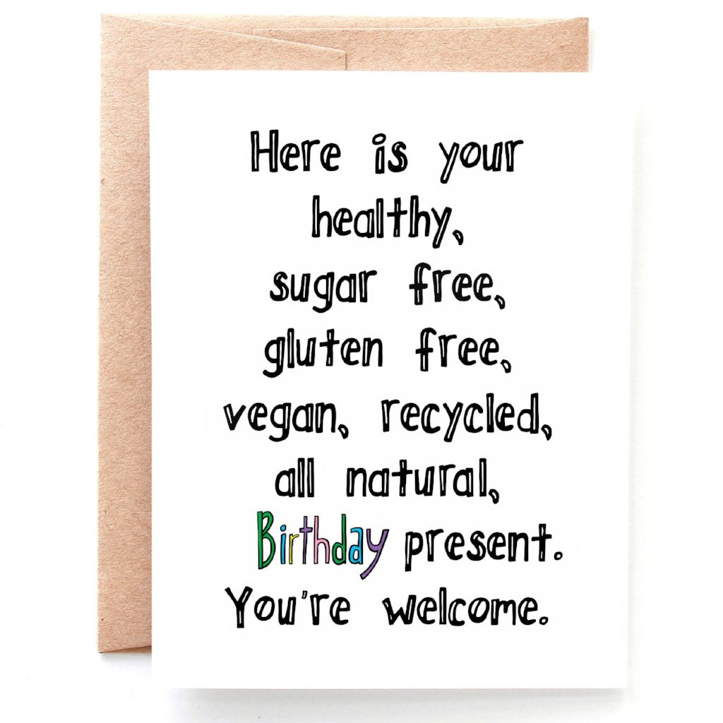 No Frills Birthday Card